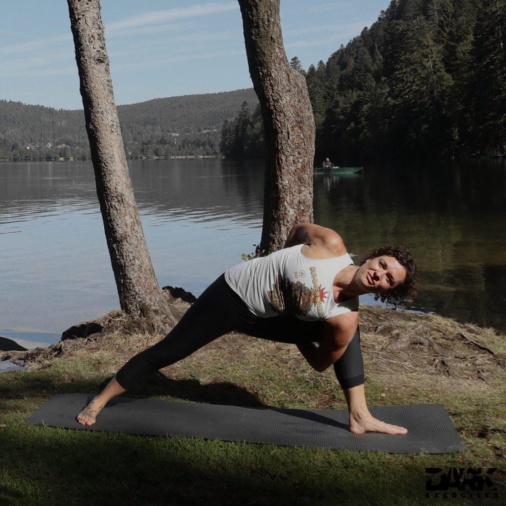 Taival-Yoga Parivrtta Badda Parsvakonasana