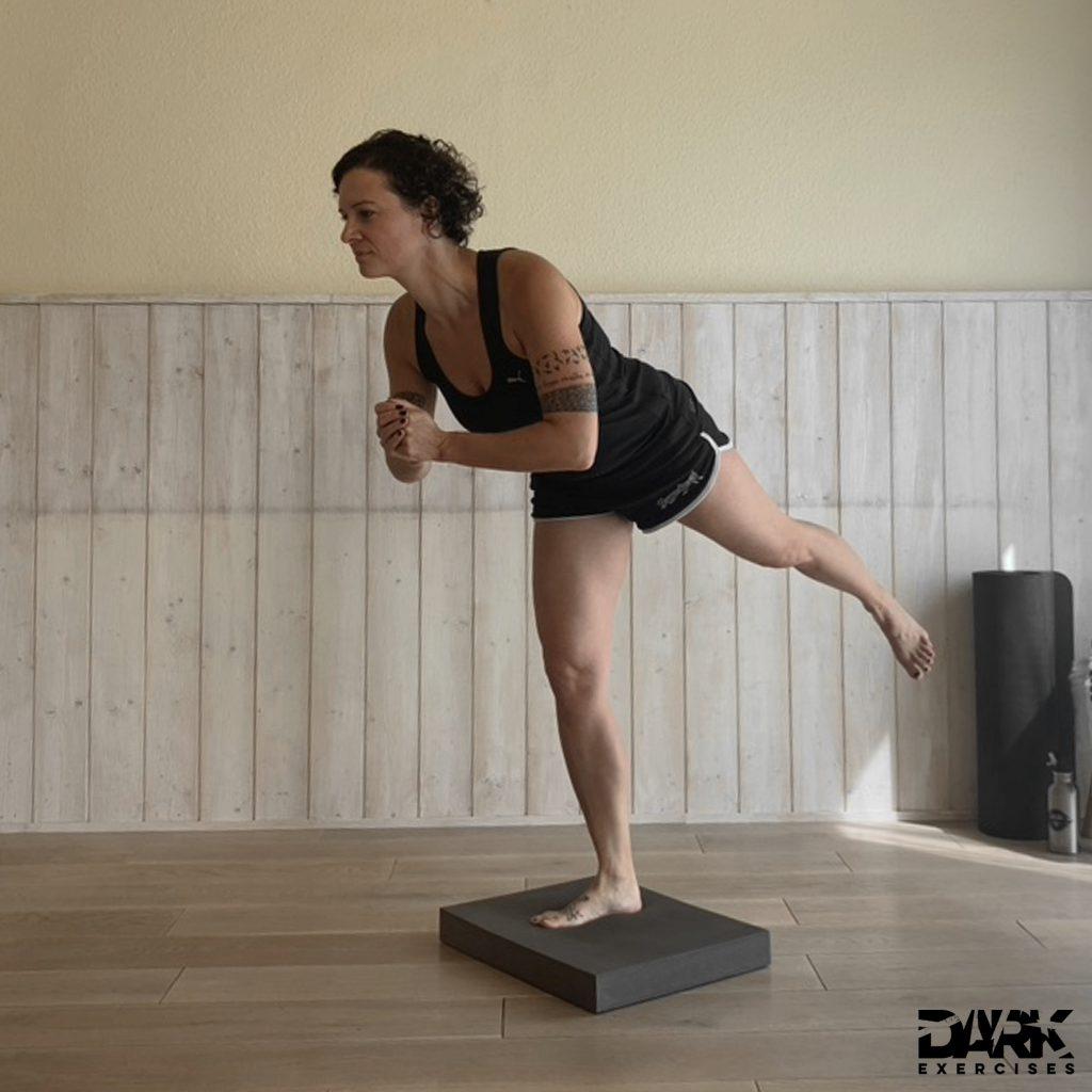 Balance-Pad EXERCISES - Einbeinstand Bein gestreckt