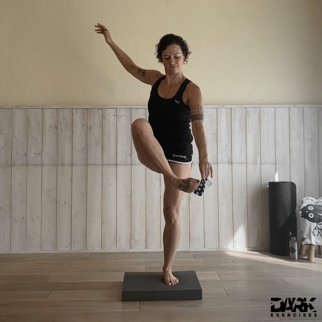 Balance-Pad EXERCISES Tuchheben