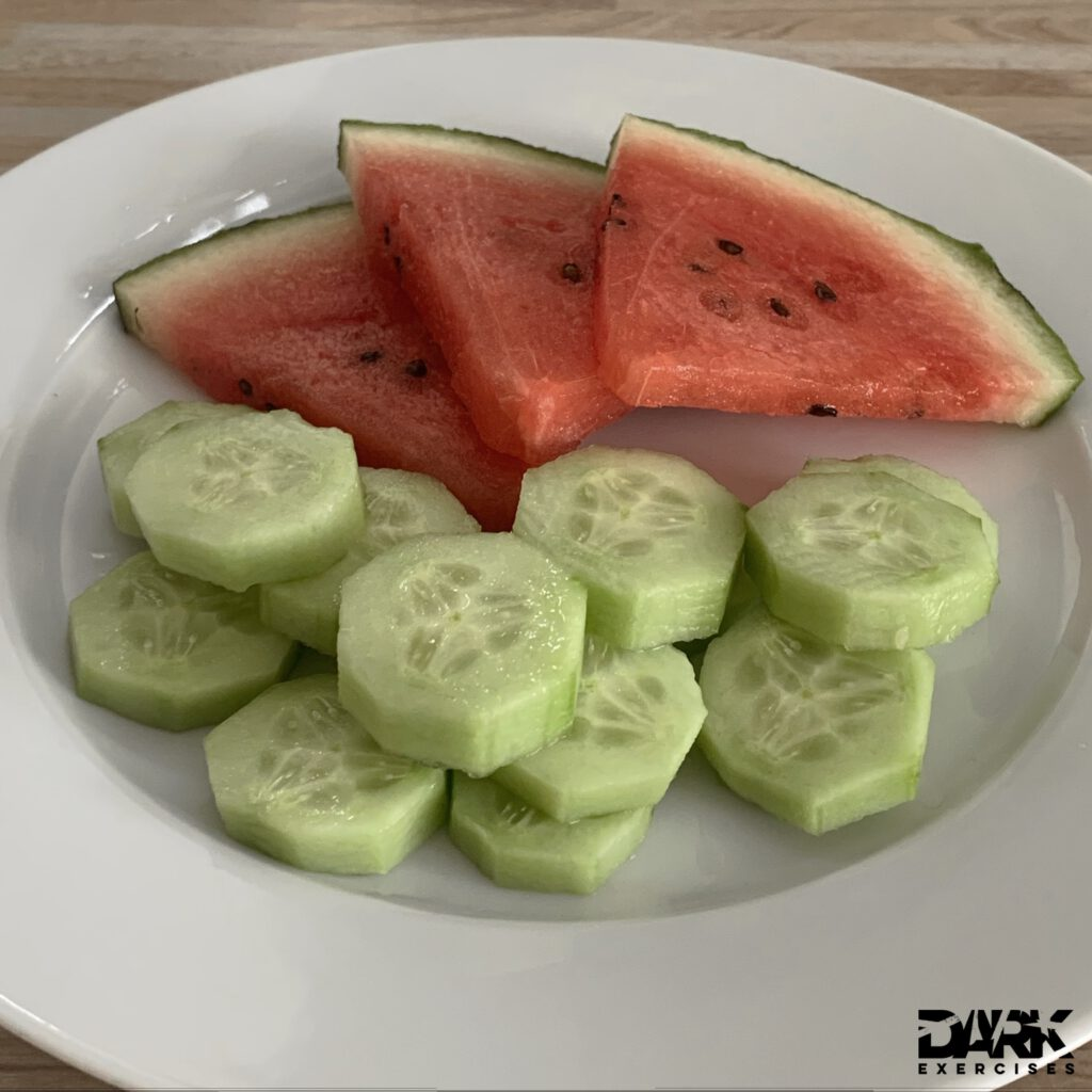 watermelon and cucumber