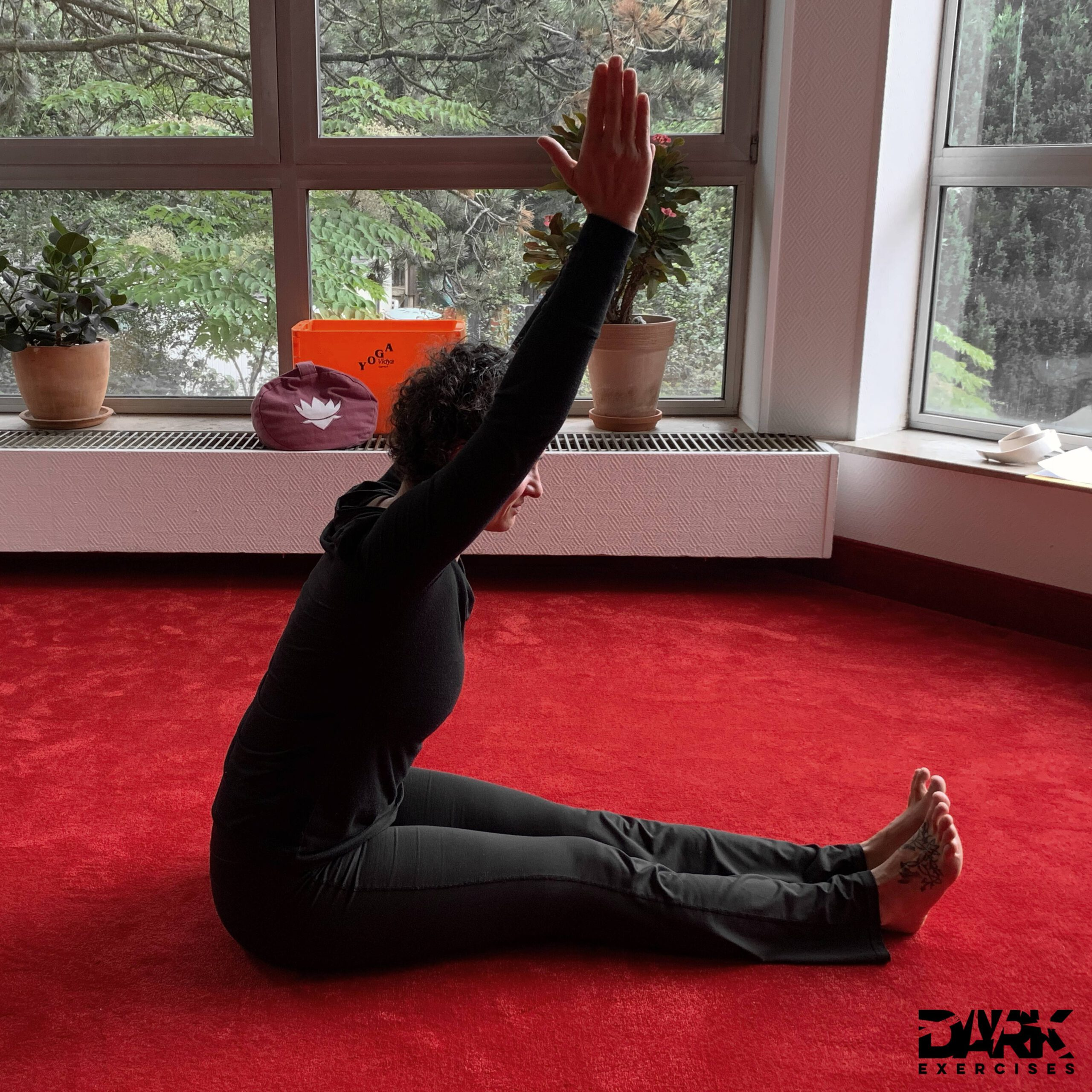 Paschimottanasana, the forward bend - develops patience, devotion and the ability to let go