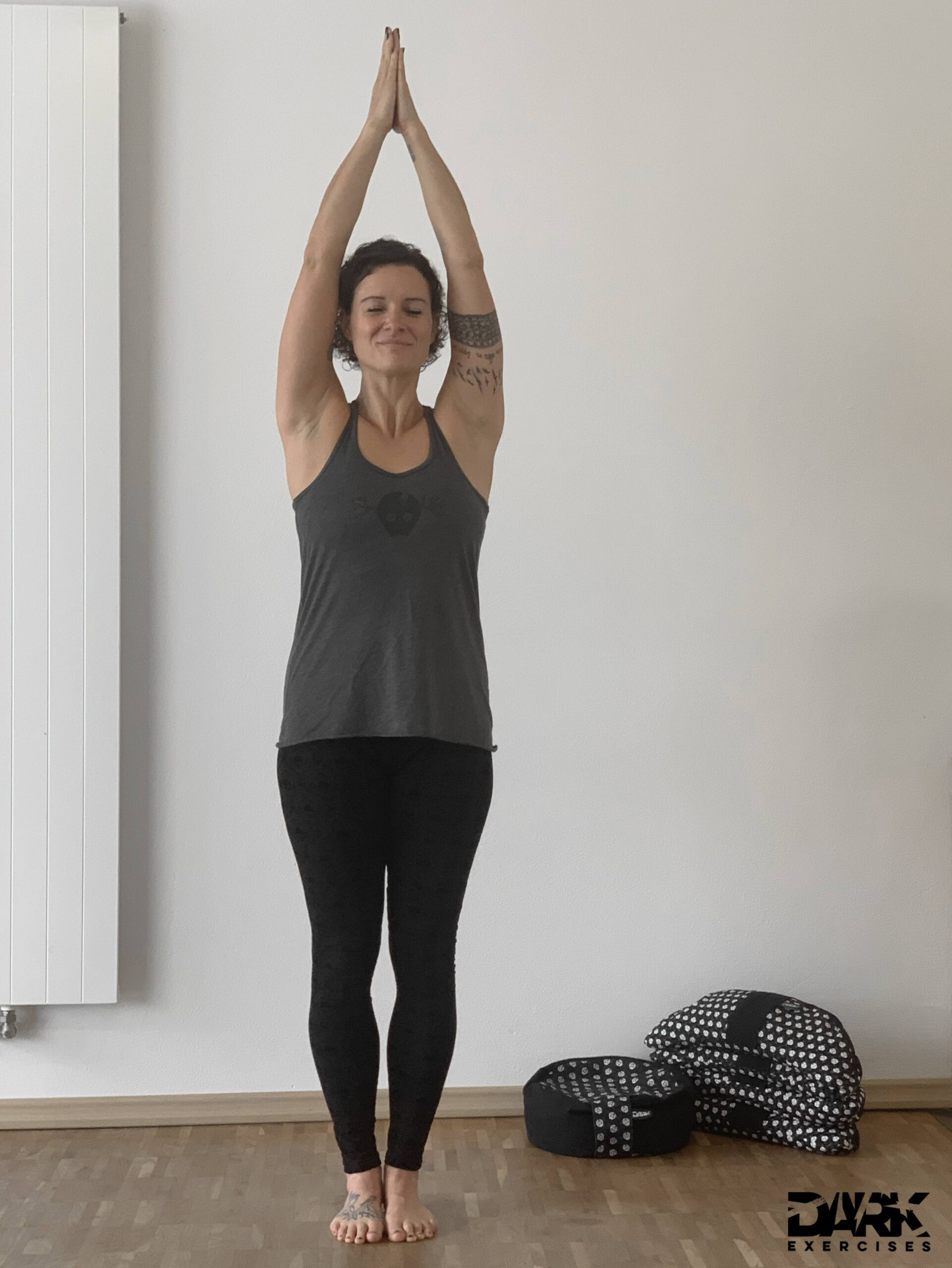 Moon Salutation - Tadasana with extended arms