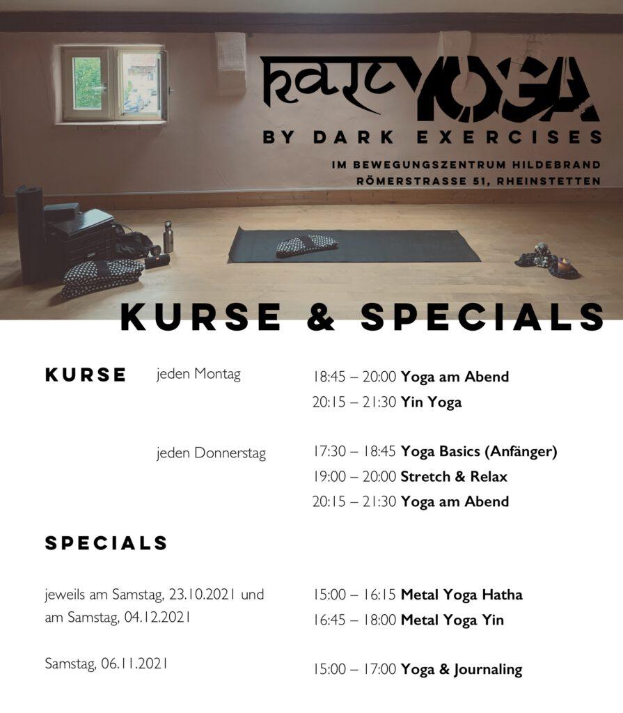 Kursplan Kursübersicht Kali Yoga im Bewegungszentrum Hildebrand