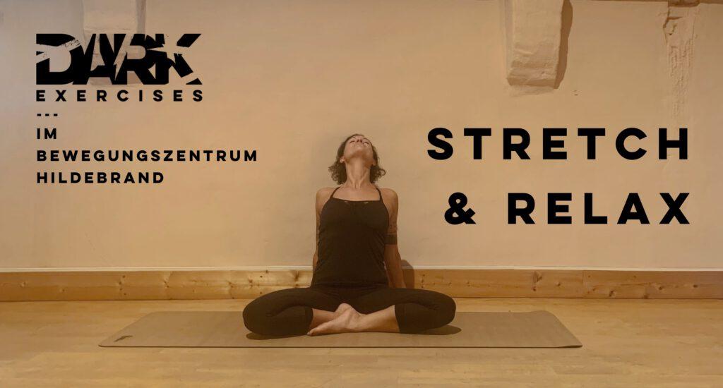 dark exercises stretch and relax im bewegungszentrum hildebrand